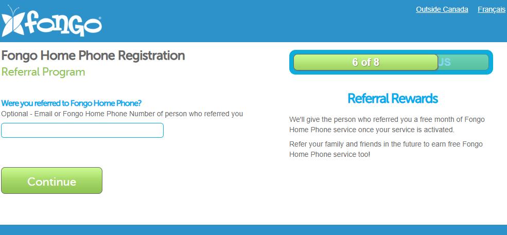 Fongo Home Phone Registration Step 6