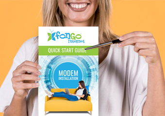 Fongo Internet Quick Start guide for modem