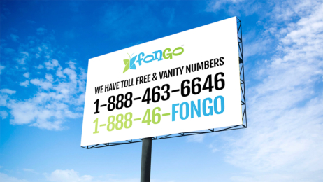 Fongo Billboard with A Vanity Number