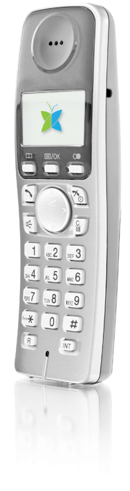 Home phone device with Fongo logo