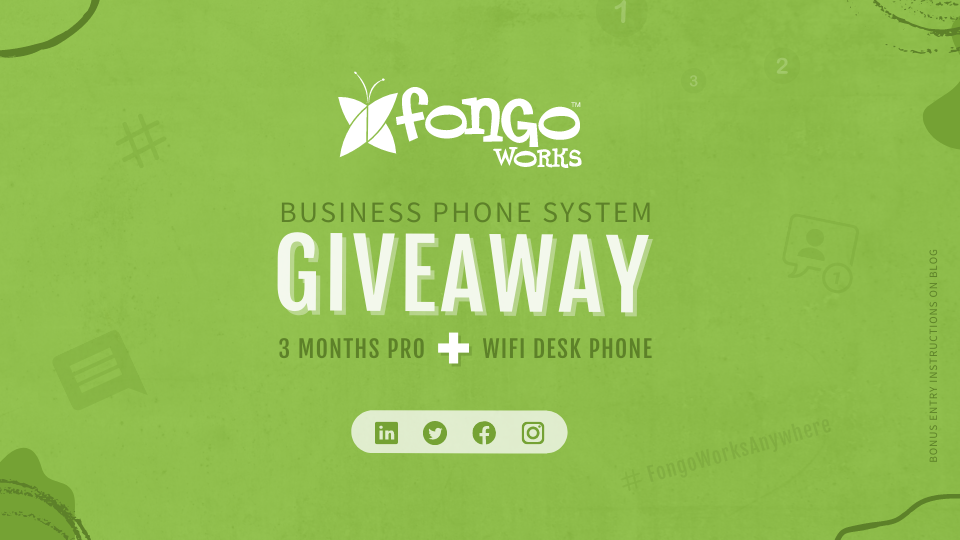 Fongo Works Giveaway - Win 3 Months Pro and a WiFi Desk Phone