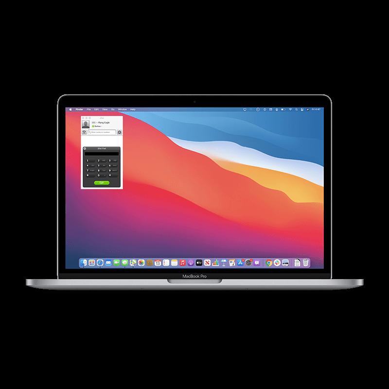 Fongo Works Jitsi running on a macbook