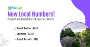 New local numbers available in Prescott and Russell United Counties, Ontario.