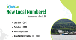 New local numbers available in British Columbia.